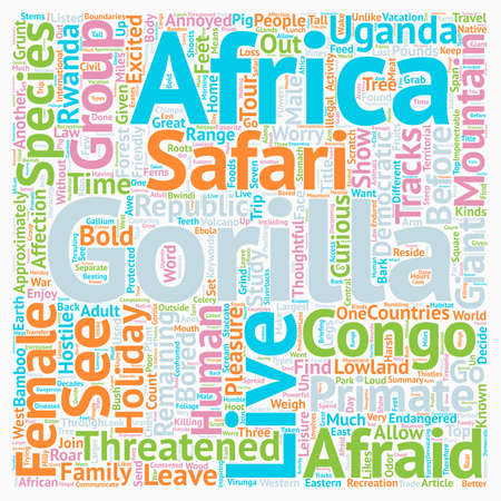How and Where To Enjoy Gorilla Safari While On African Holiday text background wordcloud concept