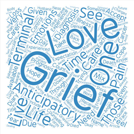 How to Cope with Anticipatory Grief Word Cloud Concept Text Background