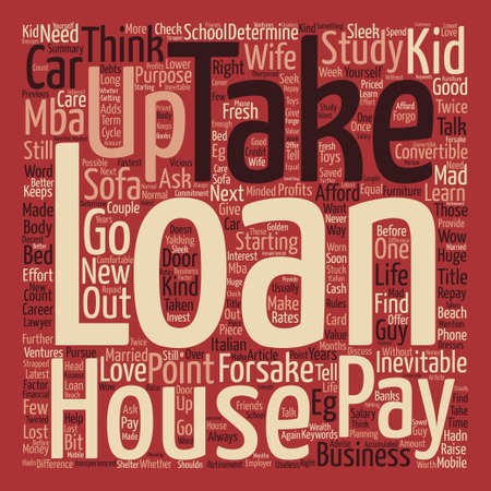 Loans To Take Or Forsake Word Cloud Concept Text Background