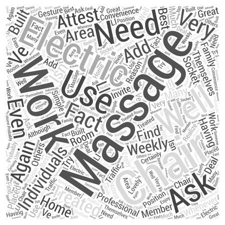 electric massage chair Word Cloud Concept