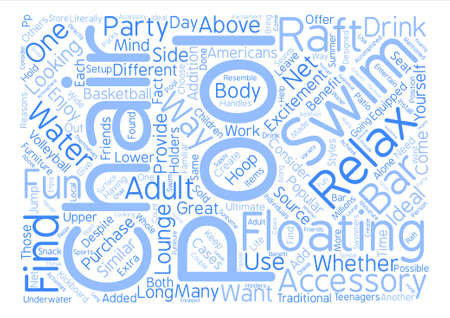 Popular Swim Accessories for Adults text background word cloud concept