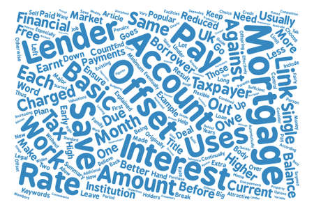 explained: Offset Mortgage Explained Word Cloud Concept Text Background Illustration