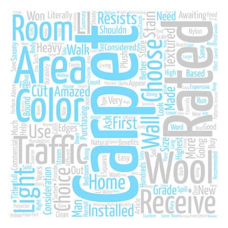 Het juiste tapijt voor uw huis Word Cloud Concept Text Background