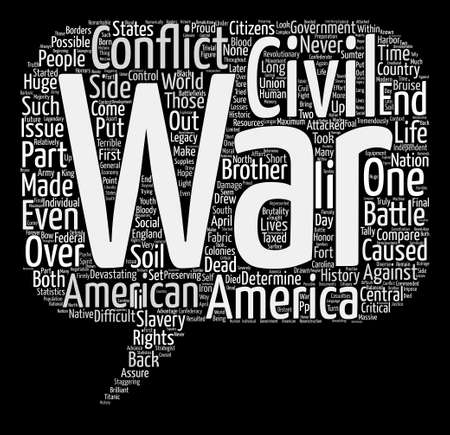 devastating: The Civil War Word Cloud Concept Text Background