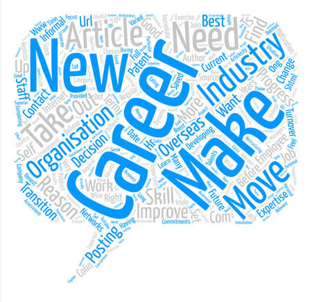 Make The Right Career Move text background word cloud concept