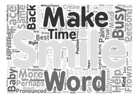 How To Use The Power Of A Smile Word Cloud Concept Text Background Illustration