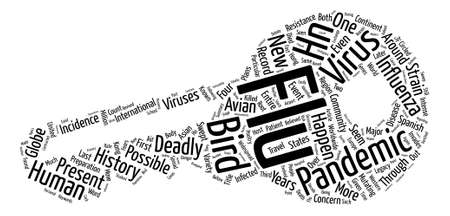 Pandemic Flu History A Deadly Legacy Word Cloud Concept Text Background