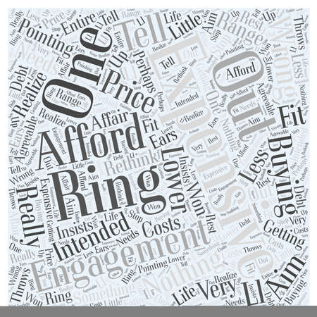 Expensive engagement ring Word Cloud Concept