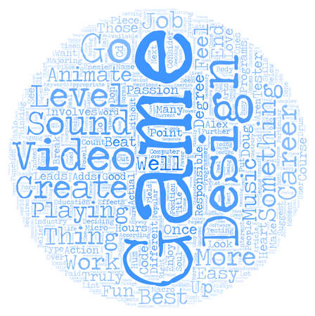 Create Video Games As Your Fun Career text background wordcloud concept