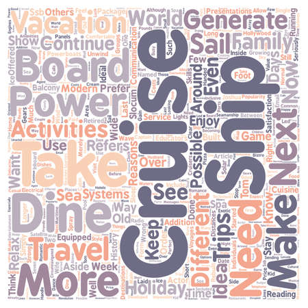incorrect: Cruise text background wordcloud concept