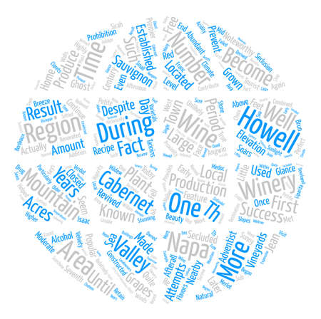 noteworthy: Howell Mountain txt text background word cloud concept
