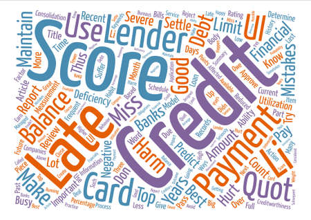Top Credit Mistakes Which Will Harm Your Credit Scores text background word cloud concept