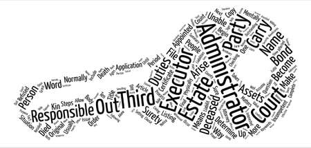 executor: What It Means To Be A Third Party Administrator text background word cloud concept Illustration