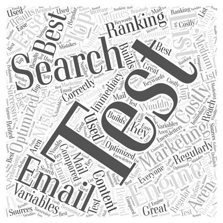 costly: Costly Email Mistakes Word Cloud Concept