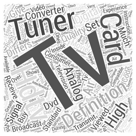 differs: Hdtv tuner card Word Cloud Concept Illustration