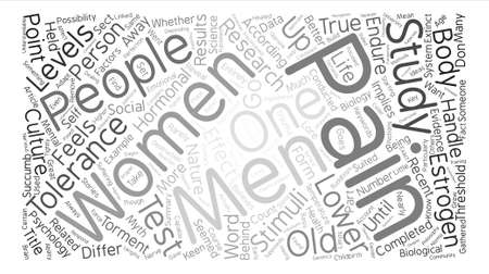 The Science Behind The Torment text background word cloud concept Illustration