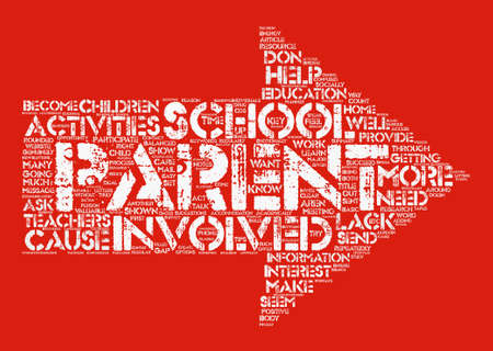 How To Get Parents Involved With School Activities text background word cloud concept