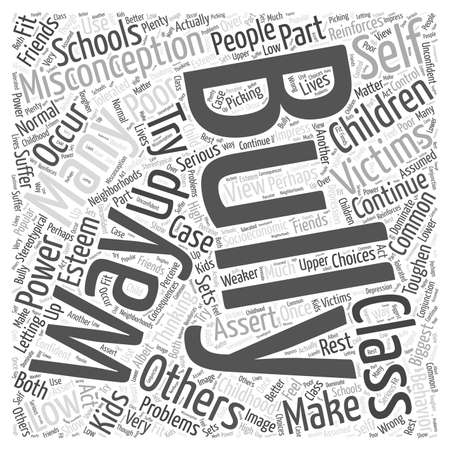 Common Misconceptions About Bullying Word Cloud Concept Illustration