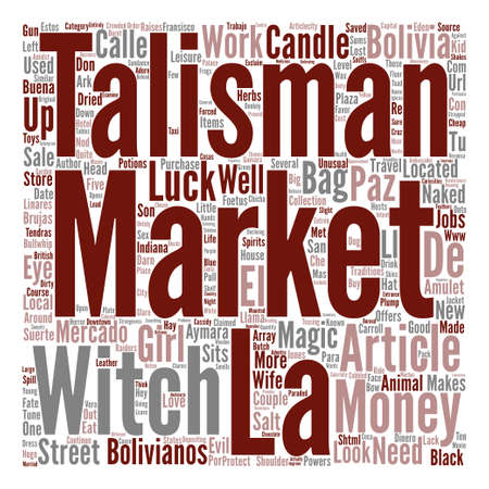 The Witches Market text background word cloud concept