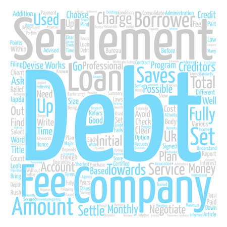 How To Select A Debt Settlement Company text background word cloud concept