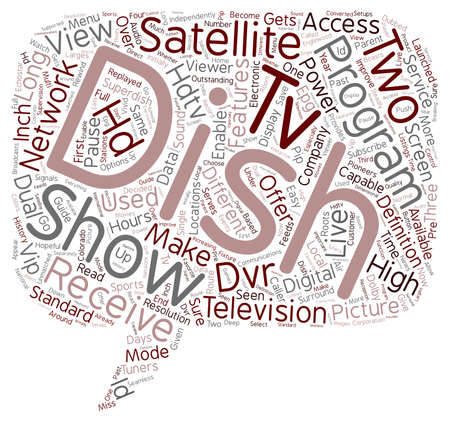 Dish hdtv satellite receiver text background wordcloud concept