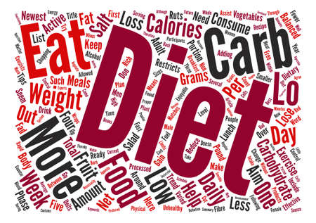 newest: Lo Carb Diets Can Assist You Rapid Weight Loss text background word cloud concept