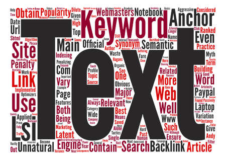 LSI and Link Popularity text background word cloud concept