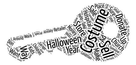 Ideas For Last Year s Halloween Costume text background word cloud concept