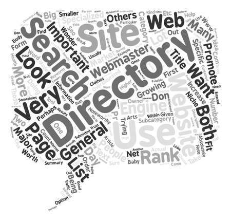 noteworthy: The Importance Of Web Directories Word Cloud Concept Text Background Illustration