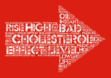 lower cholesterol level Word Cloud Concept Text Background Illustration