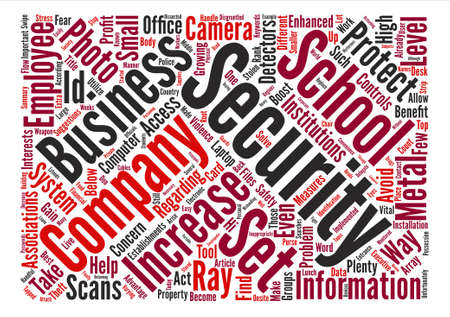 Ways To Increase Security Levels text background word cloud concept