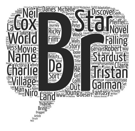 charlie: Stardust text background word cloud concept