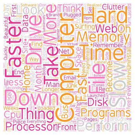 Computer No Longer Fast text background wordcloud concept