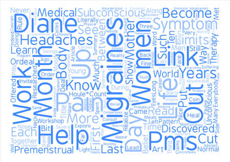 PMS Or the migraines in my life Word Cloud Concept Text Background