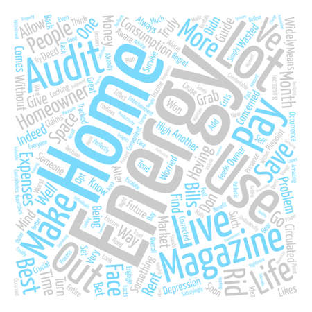 Home energy magizines II Word Cloud Concept Text Background Illustration