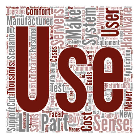 budgetary: When Do Used Servers Make Sense text background word cloud concept