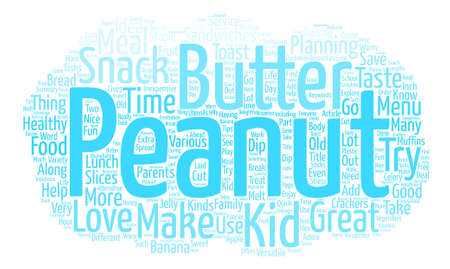 Peanut Butter Snack Ideas text background word cloud concept