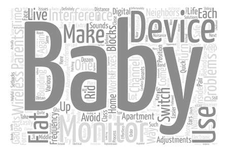 The Problems Behind Baby Monitors In Blocks Of Flats text background word cloud concept