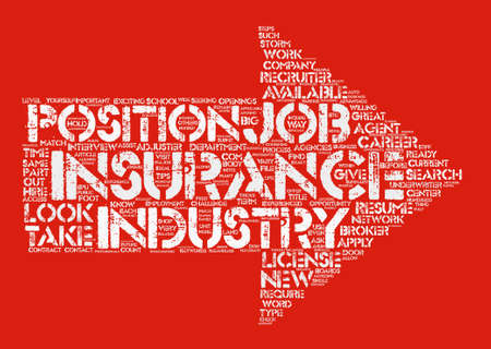 How to Find a Job in Insurance Word Cloud Concept Text Background Illustration