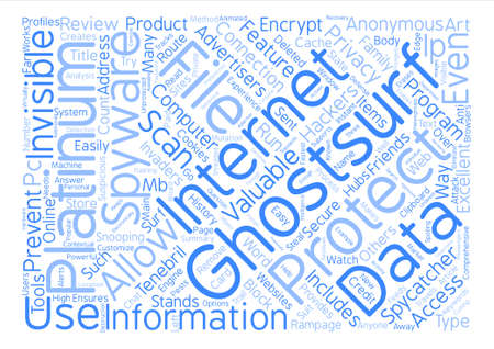 Tenebril GhostSurf Review text background word cloud concept