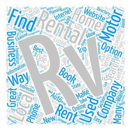How to Find RV Rentals Word Cloud Concept Text Background