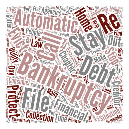 Stop Creditors In Their Tracks With Bankruptcy Word Cloud Concept Text Background