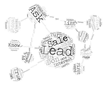 matter: How To Turn Leads Into Sales Word Cloud Concept Text Background