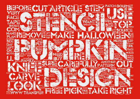 How To Carve A Pumpkin For Halloween text background word cloud concept