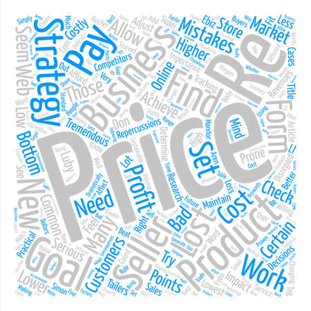 Price Check How To Set Your Product Prices Word Cloud Concept Text Background