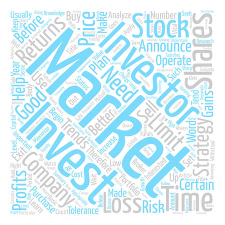 Stock Market Strategies For Investors text background word cloud concept Illustration