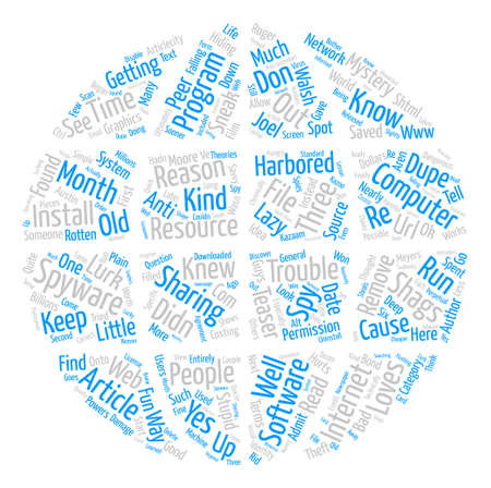 The Spyware That Shagged Me text background word cloud concept