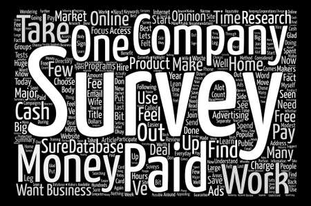 Paid Survey text background word cloud concept Illustration