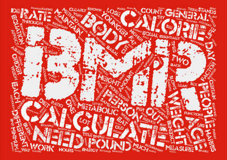 How To Calculate BMR text background word cloud concept
