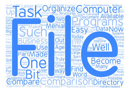 How To Compare File And Directory Systems And Why text background word cloud concept
